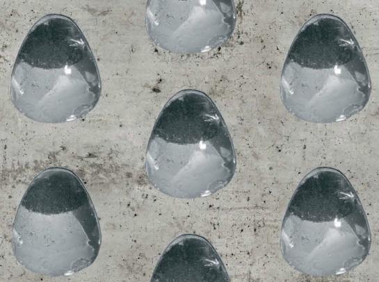 solarconcrete: Detailansicht des Prototypen von Barbara Graßl