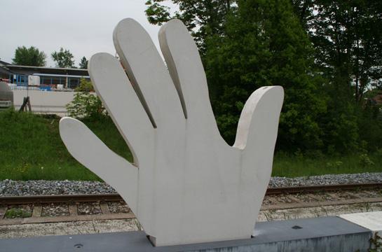 Winkende Hand