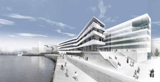 Entwurf Hafencity-Universität Hamburg (Code Unique, Dresden)
