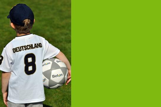 Ich will einen Fußball gewinnen!