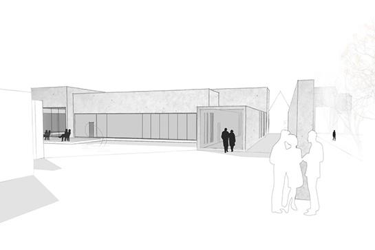 Eingangsperspektive zum Kunsthaus