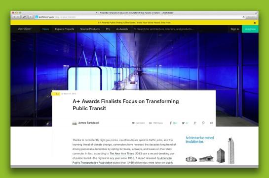 Screenshot Architizer.com