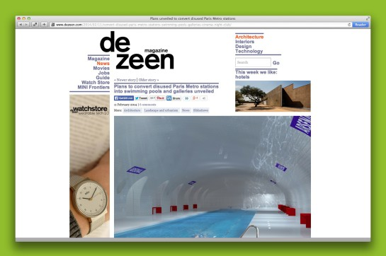 Screenshot Dezeen.com