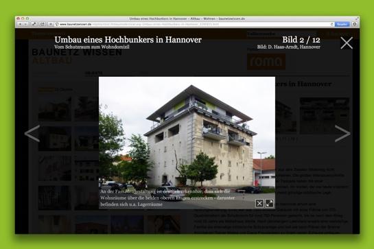 Bunker Trageweg, Hannover / Mielke Freudenberg Architekten (Screenshot BauNetz Wissen)