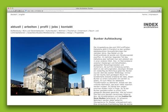 Bunker-Aufstockung im Frankfurter Osthafen (Screenshot: Index Architekten)