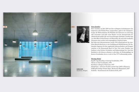 Peter Zumthor: Blick ins Booklet zum Hörbuch
