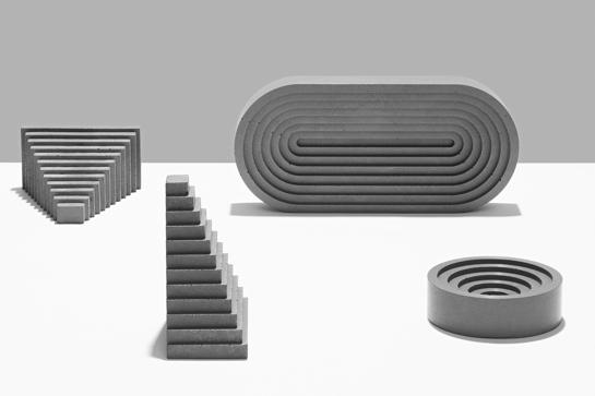 Geometrisch: Betonobjekte von Klemens Schillinger