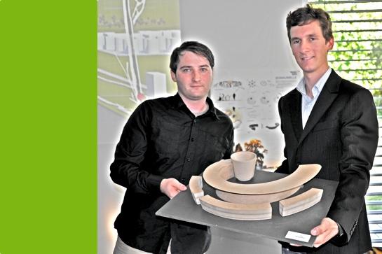 Martin Ritt und Benjamin Kromoser mit ihrem siegreichen Wettbewerbsbeitrag