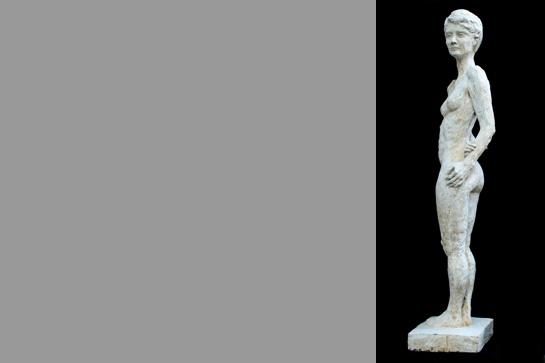 Die fertige Betonskulptur von Magdalena Mayer