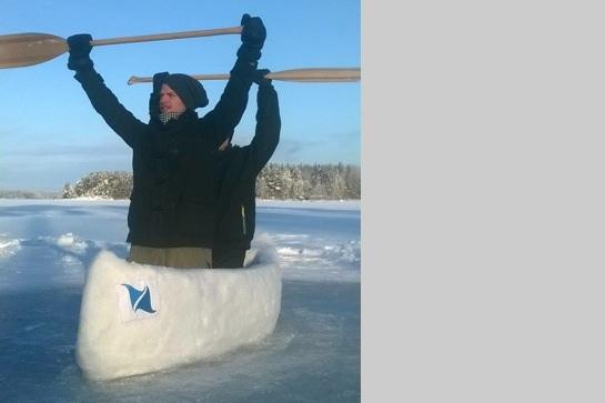 Eiskanu aus Finnland (Betonkanu-Regatta 2015)