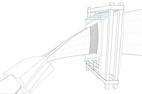 3D-Zeichnung einer Fuge und der Schalung
