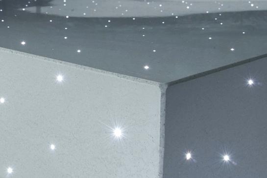 Leuchtet von innen: Lichtfaserbeton