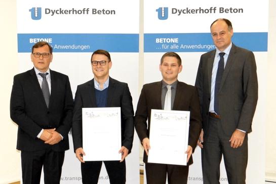 Dipl.-Ing. Paul Vogel (Dyckerhoff GmbH), Nicolas Wachter, Tobias Schubert, Dipl.-Wirtsch.-Ing. Norbert Schultz (Dyckerhoff GmbH)