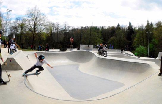 Der im April 2017 eröffnete Wheelpark im Freizeitpark Wiehl, geplant von maierlandschaftsarchitektur aus Köln