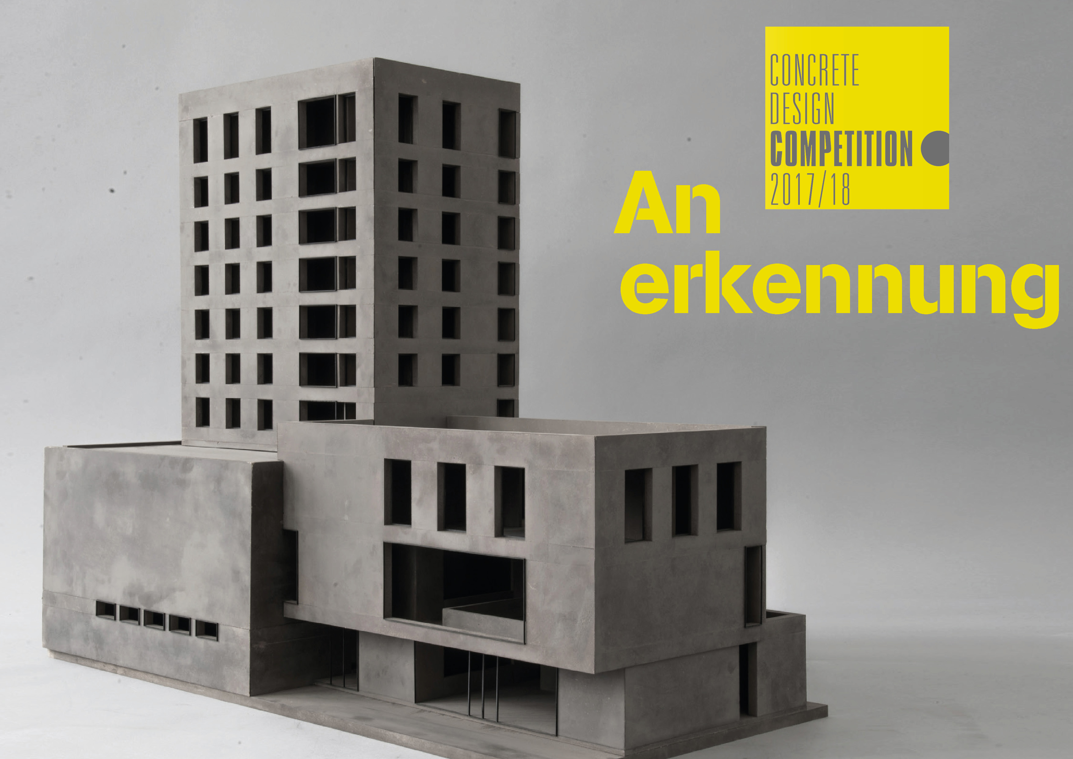 Concrete Design Competition 2017/18 TACTILITY - Anerkennungen