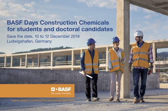 BASF Days Construction Chemicals 2018 in Ludwigshafen
